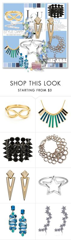 """""""Geometric Jewelry"""" by baymoondesign ❤ liked on Polyvore featuring Tiffany & Co., Marc by Marc Jacobs, Eddie Borgo, Adina Reyter, Lynn Chase and Alex Mika"""