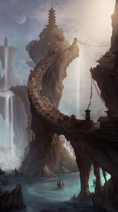 Spire by yagaminoue on deviantART #digitalart #digitalpainting #peinturenumérique