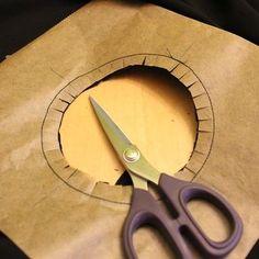 Kreis aufnähen mit Backpapiertechnik