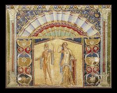 Ancient Roman Mosaic From House #22 @ Herculaneum.  Before 300 CE.  No further reference provided.