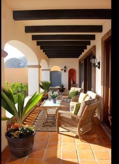 Mediterranean Home Photos: Find Mediterranean Homes and Mediterranean Decor Onli. - Mediterranean Home Photos: Find Mediterranean Homes and Mediterranean Decor Online - Small Backyard Patio, Backyard Patio Designs, Patio Ideas, Porch Ideas, Backyard Ideas, Backyard Landscaping, Spanish Style Homes, Spanish House, Spanish Revival
