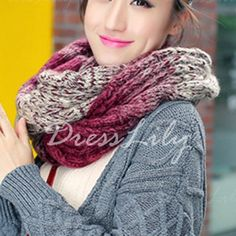 Fashionable Gradient Color Knitted Neck Warmer For Women, COLOR ASSORTED in Scarves   DressLily.com