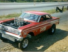 Click this image to show the full-size version. Car Ford, Ford Gt, 65 Mustang Fastback, Ford Mustang, 65 Ford Falcon, Cool Car Pictures, Drag Bike, Custom Muscle Cars, Vintage Race Car