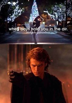 Anakin Skywalker knows how to make a girl swoon. ;D