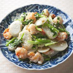 えびとかぶのねぎ塩炒め | 伊藤晶子さんの炒めものの料理レシピ | プロの簡単料理レシピはレタスクラブニュース