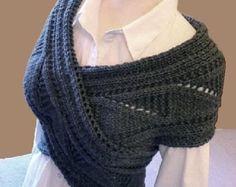 Knitting Pattern Knit Sweater cowl Vest  Waistcoat pattern PDF Pattern  in ENGLISH ONLY