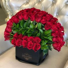 Red roses have always been considered as the flower of elegance, love, romance, and passion. Signature 75 Standing Rose Box design of J'Adore Signature Rose Box is as elegant as it is romantic. Order flower arrangements at JLF Los Angeles flower shop. Valentine's Day Flower Arrangements, Rosen Box, Beautiful Rose Flowers, Fresh Flowers, Wild Flowers, Box Roses, Luxury Flowers, Flowers Online, Order Flowers