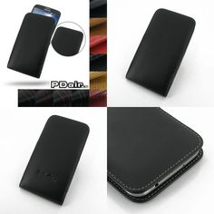 PDair Leather Case for Samsung Galaxy Mega 6.3 GT-i9200 - Vertical Pouch Type (Black)