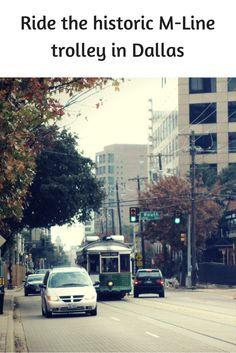 Historic M-Line Trolley in Dallas
