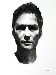Charcoal Portrait Studies by Mike Creighton, via Behance