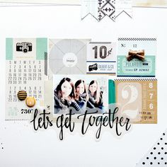 Let's go together by Laetitia Poissy at @studio_calico #studiocalico #scrapbooking