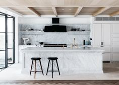 Room of the Week :: A To-Die-For Marble Kitchen | coco kelley | Bloglovin'