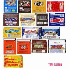 Toni Ellison: Halloween Candy Wrapper Templates