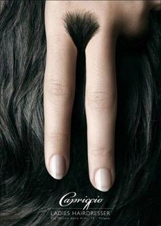 Ladies hairdressers ad. Too clever.
