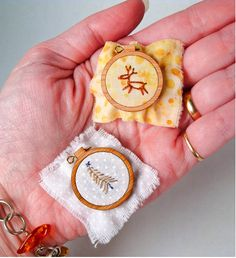 Mini Embroidery Hoops! by paddlefish (beckarahn), via Flickr