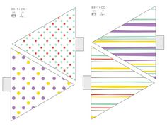DIY Basics: Pennant Flag Banners (+ Free Printables!) via Brit + Co