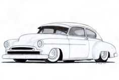 Line Drawing of old cars | ... Fleetline Custom Coupe Drawing by ~Vertualissimo on deviantART
