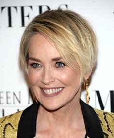 Sharon Stone's Layered Crop - Short Haircuts Perfect For Women Over 50 - StyleBistro