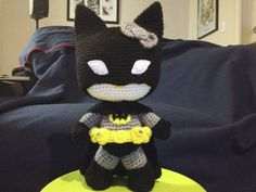 10.5 Crochet Bat Kitty Amigurumi Doll PATTERN via Etsy
