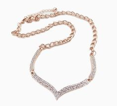Fashion Collarbone Chain Full Rhinestone Crystal Necklace for Decoration