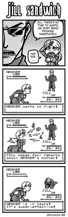 Jill Sandwich - Somebody needs to comfort Wesker... he's in tears