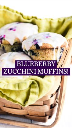 Blueberry Zucchini Muffins, Blueberry Recipes, Breakfast Muffins, Breakfast Recipes, Dessert Recipes, Just Desserts, Delicious Desserts, Yummy Food, Tasty