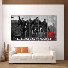 Gears of War Video Gamese Block Giant Wall Art Poster (P-0098)