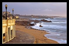 Mouth of the Douro river at the Atlantic Ocean;, Oporto, Portugal