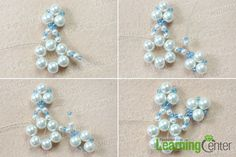 Make the petals for the beaded snowflake ornament
