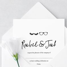Cute and classy ▫️👓▪️👓 and can be customised to suit your unique personalities Stationery Printing, Stationery Design, Wedding Stationery, Wedding Invitations, Suits You, Celebrity Weddings, Personality, Place Card Holders, Classy