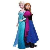 Muursticker Elsa en Anna Frozen Disney