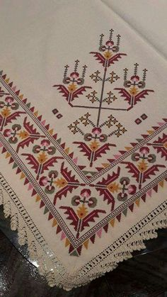 This crochet ripple afghan has Beaded Cross Stitch, Cross Stitch Borders, Cross Stitch Designs, Cross Stitching, Cross Stitch Embroidery, Cross Stitch Patterns, Embroidery Patterns Free, Embroidery Designs, Knitting Patterns