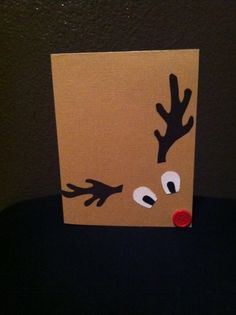 Reindeer card or instead of bow on a pkg!