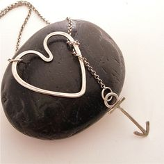 "You'll be singing this all day now... ""Shot Through The Heart"" Sterling Silver Lariat Necklace"
