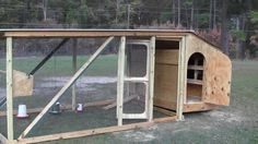 This video shows how to build a hen house in my backyard out of recycled and reclaimed lumber from my carport that