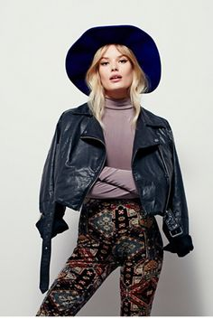Outfit perfection // Free People Washed Leather Moto Jacket at Free People Clothing Boutique