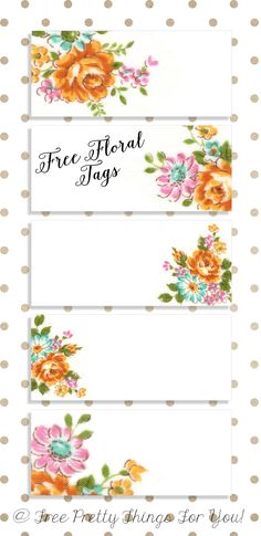 Labels: Pretty Floral VintageTags - Free Pretty Things For You Free Printable Gift Tags, Printable Labels, Free Printables, Labels Free, Book Labels, Name Labels, Vintage Labels, Vintage Tags, Vintage Stuff