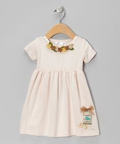 Look at this Tan Birdcage Dress on #zulily today!
