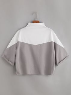 T-Shirts by BORNTOWEAR. Mock Neck Cuffed T-shirt