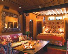 Beautiful Interiors-boho meets southwest meets India-Inn of the Five Graces