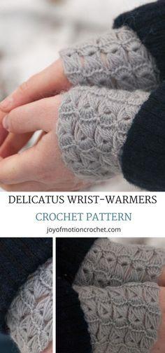 Delicatus wrist warmers crochet pattern. Crochet wrist warmers wristlets pattern. Crochet wrist warmers pattern. Croceht wrist warmers handmade. Crochet wrist warmers easy. #easycrochetpattern #crochetwristwarmers #crochetpattern #crochet #crochetwristlets