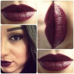 "One of my fav dark lips - ""deep plum"" sephora luster matte"
