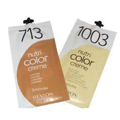 Descrizione : Sistema di numerazione:  1003 Biondo chiarissimo (10), oro (3), (0) prima del tono 0 morbido  734 Biondo (7), oro (3), ramato (4)  Altezza di tono dei capelli:  8,9,10 colorazioni molto chiare, decolorazioni totali, meches bionde o platino  6,7,8 Beige, dorato, ramato (713, 734, 740)  5,6 Dorato, mogano, rosso (513, 556)  4,5,6 porpora, mogano, rosso, ramato (200, 500, 600)  7 effetti brillanti (400)