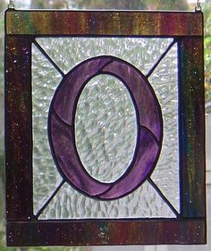 Letter O Initial CUSTOM Stained Glass by StainedGlassAndMore, $44.99