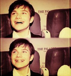 Chris Colfer -beautiful when he's not being self-conscious about his teeth!