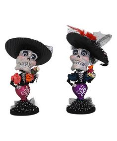 Another great find on #zulily! Skull Bobble Head - Set of Two #zulilyfinds