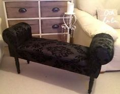 Madison lane designs on pinterest 117 pins for Black damask chaise longue