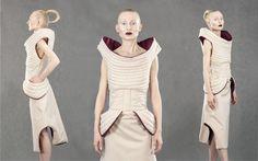 Diploma Project by Aleksandra Sadura 2014 fashion | form | quilting | beige