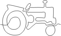 Tractor by Dave Hudson Quilting Stencils, Quilting Templates, Machine Quilting Designs, Longarm Quilting, Free Motion Quilting, Quilting Tips, Quilting Tutorials, Quilting Projects, Quilt Patterns