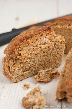 Cooks Country's Irish Brown Soda Bread made with whole wheat flour and wheat germ- lots of hearty flavor without all the heaviness!